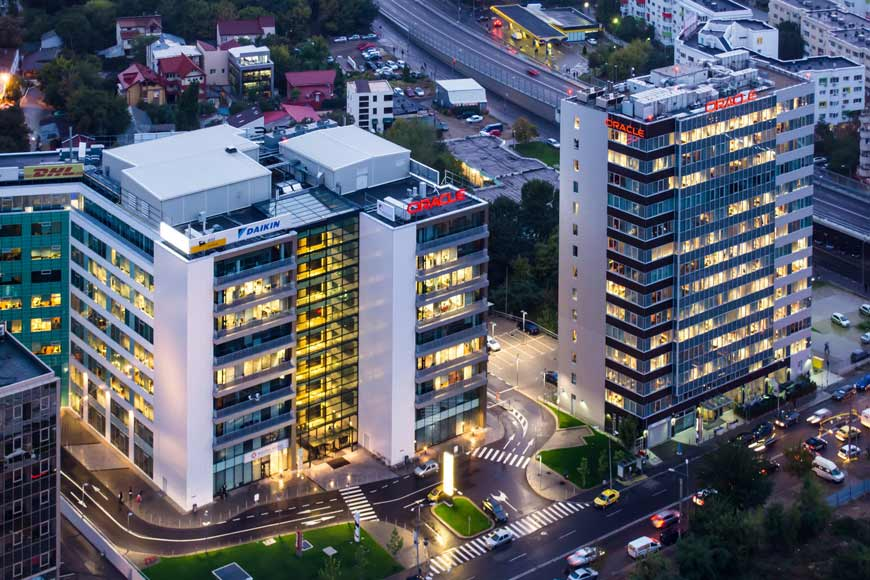 2 high office buildings