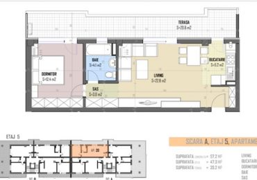 5-th floor apartment nr 20 blueprint
