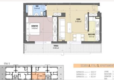 5-th floor apartment nr 19 blueprint