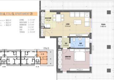 5-th floor apartment nr 21 blueprint