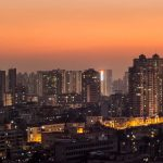 city view at night